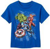 Boys 4-7 Marvel Avengers Hulk, Iron Man & Captain America Puff-Print Graphic Tee