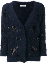 Brunello Cucinelli glitter patch cardigan - women - Cotton/Polyamide - L