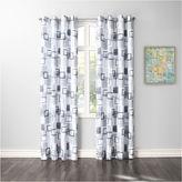 Asstd National Brand No. 918 Kaya Crushed Microfiber Grommet-Top Curtain Panel