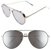 BP Women's 62Mm Oversize Aviator Sunglasses - Gold