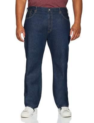 Levi's Big And Tall Men's 501 Button Fly B&t Straight Straight Jeans Clint Warp 0077 40W/36L