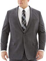 Claiborne Charcoal Herringbone Suit Jacket-Big & Tall