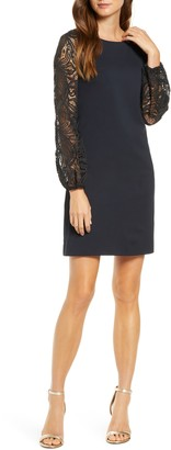 Lilly Pulitzer Gali Lace Long Sleeve Shift Dress