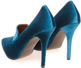 Boohoo Cinderella Velvet Feel Slipper Heels