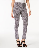 Thalia Sodi Pebble-Print Skinny Ankle Pants, Only at Macy's