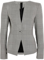 Gareth Pugh Prince Of Wales Checked Wool Blazer - Gray