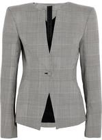 Gareth Pugh Prince Of Wales Checked Wool Blazer - Gray