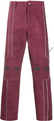 A-Cold-Wall* Contrast-Piping Staight-Leg Trousers