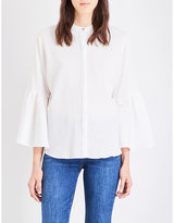 MiH Jeans Goldie pleated cotton-gauze shirt