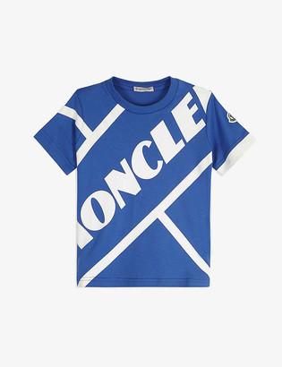 Moncler Logo print cotton T-shirt 4-14 years