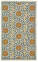 "Safavieh Chelsea Collection HK150 Rug, Ivory/Blue, 2'9""x4'9"""