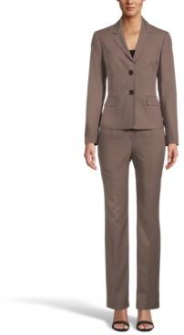 Le Suit Petite Mini-Houndstooth Pantsuit