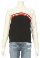 MAISON KITSUNÉ Mock Collar Lurex Stripe Sweater