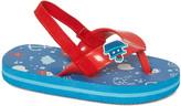 Zac & Evan Boys' Sandals Lt - Light Blue & Red Nautical-Accent Sandal - Boys