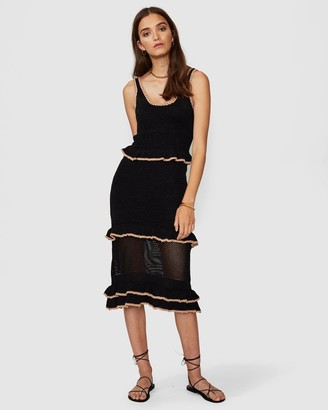 SUBOO Mimi Knit Ruffle Dress