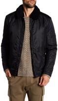Kenneth Cole New York Faux Fur Trim Aviator Jacket