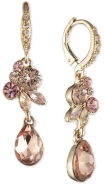 Givenchy Crystal Cluster Double Drop Earrings