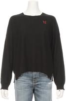 Sundry Xoxo Embroidery Crew Sweater