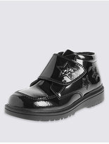 Marks and Spencer Kids' FreshfeetTM Coated Leather Patent Ankle Boots with Silver Technology