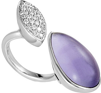 Heritage 18K 0.40 Ct. Tw. Diamond & Amethyst Ring