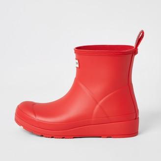 Hunter River Island Womens Red short wellington boots