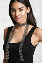 Forever 21 Rhinestone Chainmail Scarf