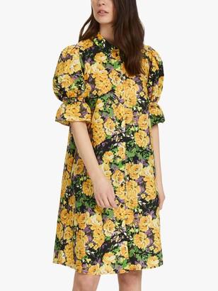 Gestuz Cassia Puff Sleeve Dress, Multi