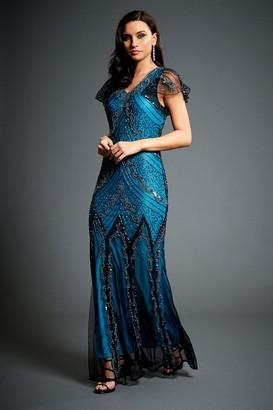 Linzi Jywal London Evelyn Embellished Evening Maxi Dress