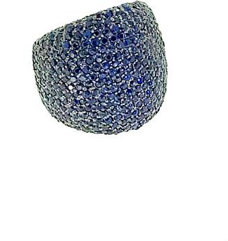 Arthur Marder Fine Jewelry Silver 7.00 Ct. Tw. Sapphire Ring