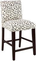 Skyline Furniture LaSalle Counter Stool, Black/Gray Spot