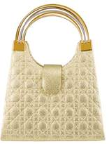 Farfalla Womens 80897 Top-Handle Bag Gold
