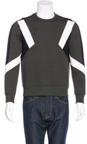 Neil Barrett Neoprene Colorblock Sweatshirt
