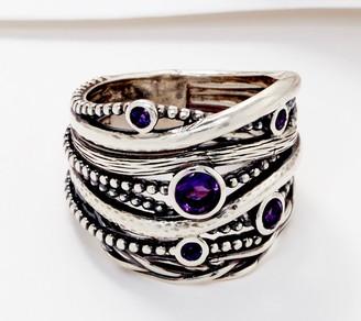 Or Paz Sterling Silver Bezel Set Scattered Gemstones Ring