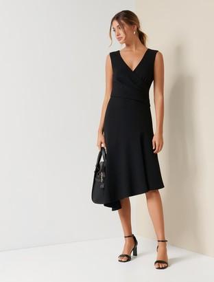 Forever New Cynthia Draped Dress - Black - 10