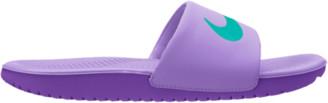 Nike Kawa Slide Shoes - Atomic Violet / Hyper Jade Grape