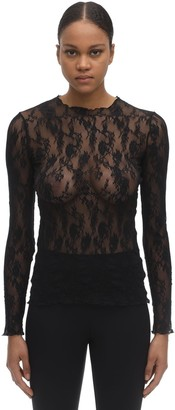 Wolford Katharina Long Sleeved Lace Top