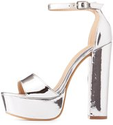Charlotte Russe Metallic Two-Piece Platform Sandals