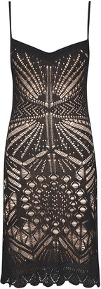 DSQUARED2 Perforated V-neck Dress