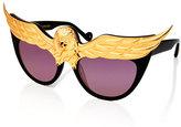 Anna-Karin Karlsson Plated Eaglet Cat-Eye Sunglasses, Black