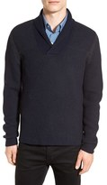 BOSS Men's 'Berno' Shawl Collar Wool Pullover