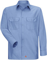 JCPenney Red Kap Long-Sleeve Solid Ripstop Shirt - Big & Tall