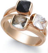 Charter Club Gold-Tone Triple-Stone Ring, Created for Macy's