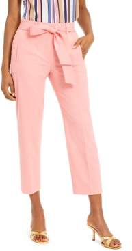 Bar III Bi-Stretch Belted Tie Pants, Created For Macy's