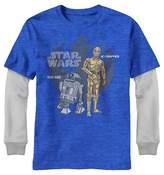 Star Wars Boys' Long Sleeve T-Shirt - Royal Blue