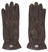Fendi Cashmere-Lined Leather Gloves