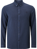Fred Perry Waffle Textured Shirt, Deep Night