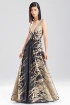Josie Natori Pebble Cloque VNeck Dress