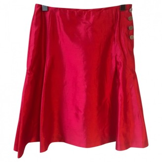 Celine Red Silk Skirts