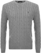 Ralph Lauren Cable Knit Jumper Grey