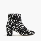 J.Crew Side-zip ankle boots in leopard calf hair